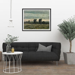 Ezposterprints - Women On The Peat Moor | Van Gogh Art Reproduction - 32x24 ambiance display photo sample