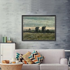 Ezposterprints - Women On The Peat Moor | Van Gogh Art Reproduction - 48x36 ambiance display photo sample