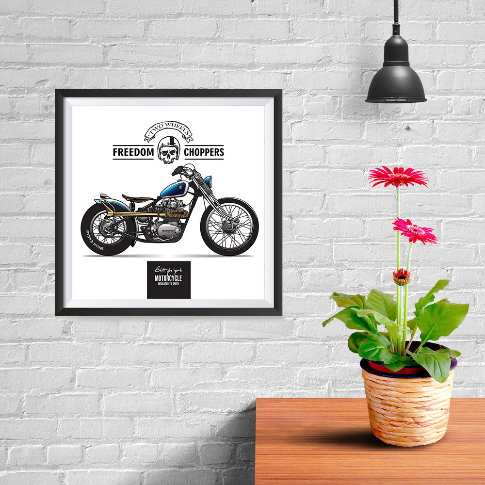 Ezposterprints - Built For Speed Vintage Chopper - 10x10 ambiance display photo sample