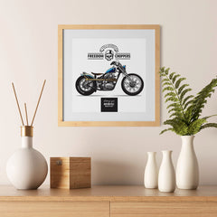 Ezposterprints - Built For Speed Vintage Chopper - 12x12 ambiance display photo sample
