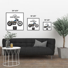Ezposterprints - Built For Speed Vintage Chopper ambiance display photo sample