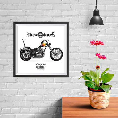 Ezposterprints - Built For Speed 2 Vintage Chopper - 10x10 ambiance display photo sample