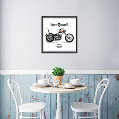 Ezposterprints - Built For Speed 2 Vintage Chopper - 16x16 ambiance display photo sample