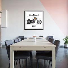 Ezposterprints - Built For Speed 2 Vintage Chopper - 32x32 ambiance display photo sample