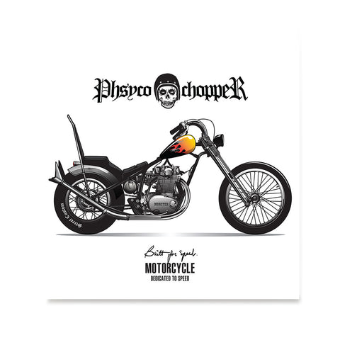 Ezposterprints - Built For Speed 2 Vintage Chopper