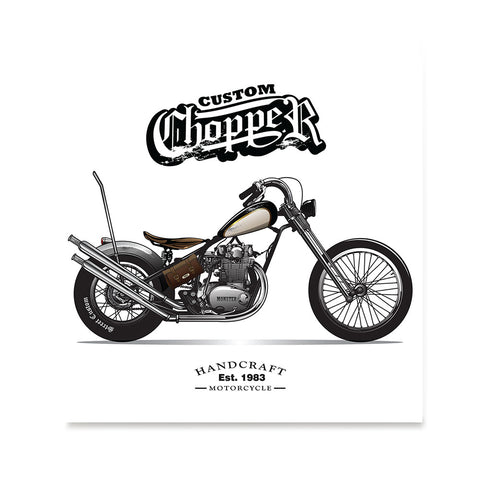 Ezposterprints - Custom Vintage Chopper