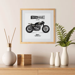 Ezposterprints - Custom Garage Vintage Chopper - 12x12 ambiance display photo sample