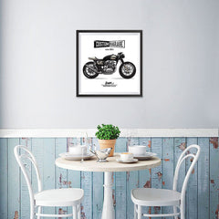 Ezposterprints - Custom Garage Vintage Chopper - 16x16 ambiance display photo sample