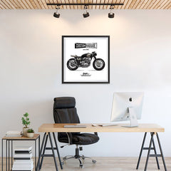 Ezposterprints - Custom Garage Vintage Chopper - 24x24 ambiance display photo sample