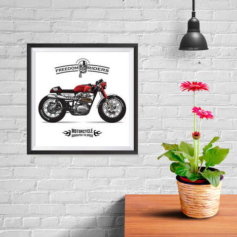 Ezposterprints - Dedicated To Speed Vintage Chopper - 10x10 ambiance display photo sample