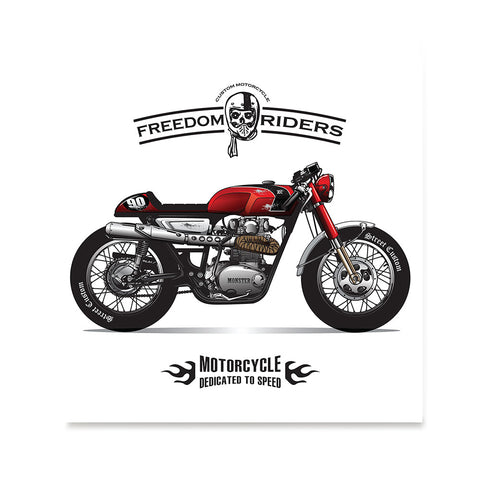Ezposterprints - Dedicated To Speed Vintage Chopper