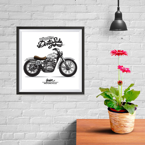 Ezposterprints - Dirty Side Vintage Chopper - 10x10 ambiance display photo sample