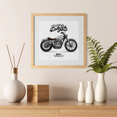 Ezposterprints - Dirty Side Vintage Chopper - 12x12 ambiance display photo sample