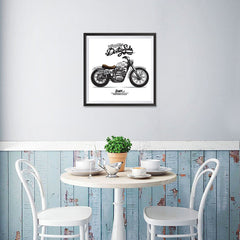 Ezposterprints - Dirty Side Vintage Chopper - 16x16 ambiance display photo sample