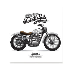 Ezposterprints - Dirty Side Vintage Chopper