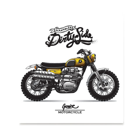 Ezposterprints - Dirty Side 2 Vintage Chopper