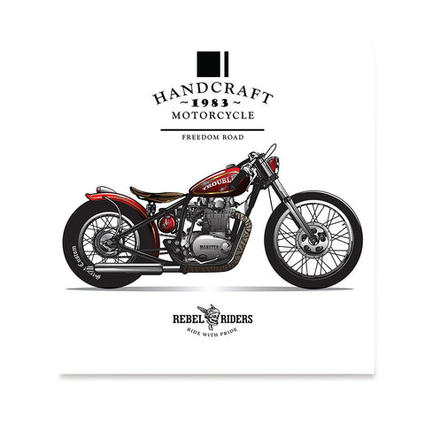 Ezposterprints - Freedom Road Vintage Chopper