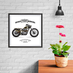 Ezposterprints - The Goodness In Ride Vintage Chopper - 10x10 ambiance display photo sample