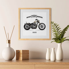 Ezposterprints - High Octane Vintage Chopper - 12x12 ambiance display photo sample