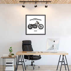 Ezposterprints - High Octane Vintage Chopper - 24x24 ambiance display photo sample