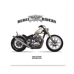 Ezposterprints - High Octane Vintage Chopper
