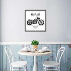 Ezposterprints - The Hill Climber Vintage Chopper - 16x16 ambiance display photo sample