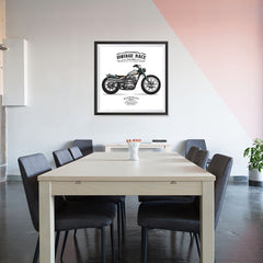 Ezposterprints - The Hill Climber Vintage Chopper - 32x32 ambiance display photo sample