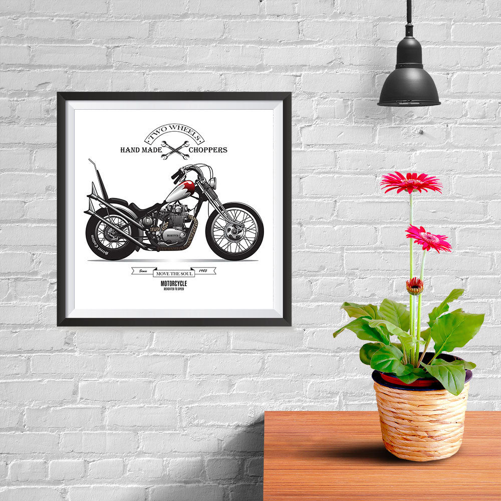 Ezposterprints - Move The Soul Last Vintage Chopper - 10x10 ambiance display photo sample