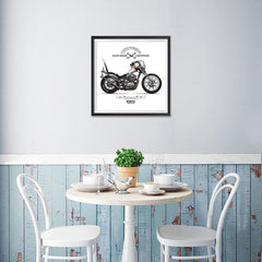 Ezposterprints - Move The Soul Last Vintage Chopper - 16x16 ambiance display photo sample