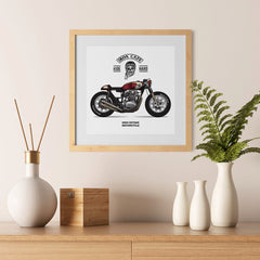 Ezposterprints - Ride Hard Vintage Chopper - 12x12 ambiance display photo sample