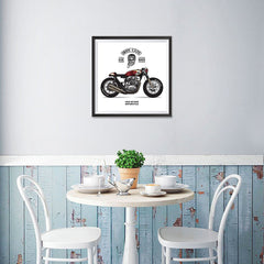 Ezposterprints - Ride Hard Vintage Chopper - 16x16 ambiance display photo sample