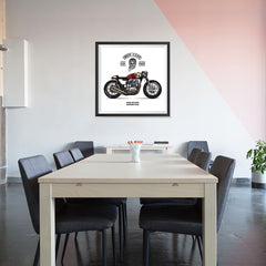Ezposterprints - Ride Hard Vintage Chopper - 32x32 ambiance display photo sample
