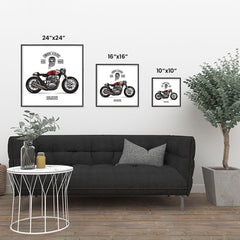 Ezposterprints - Ride Hard Vintage Chopper ambiance display photo sample