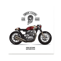 Ezposterprints - Ride Hard Vintage Chopper