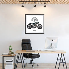 Ezposterprints - Ride Hard 2 Vintage Chopper - 24x24 ambiance display photo sample