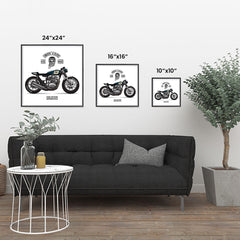 Ezposterprints - Ride Hard 2 Vintage Chopper ambiance display photo sample