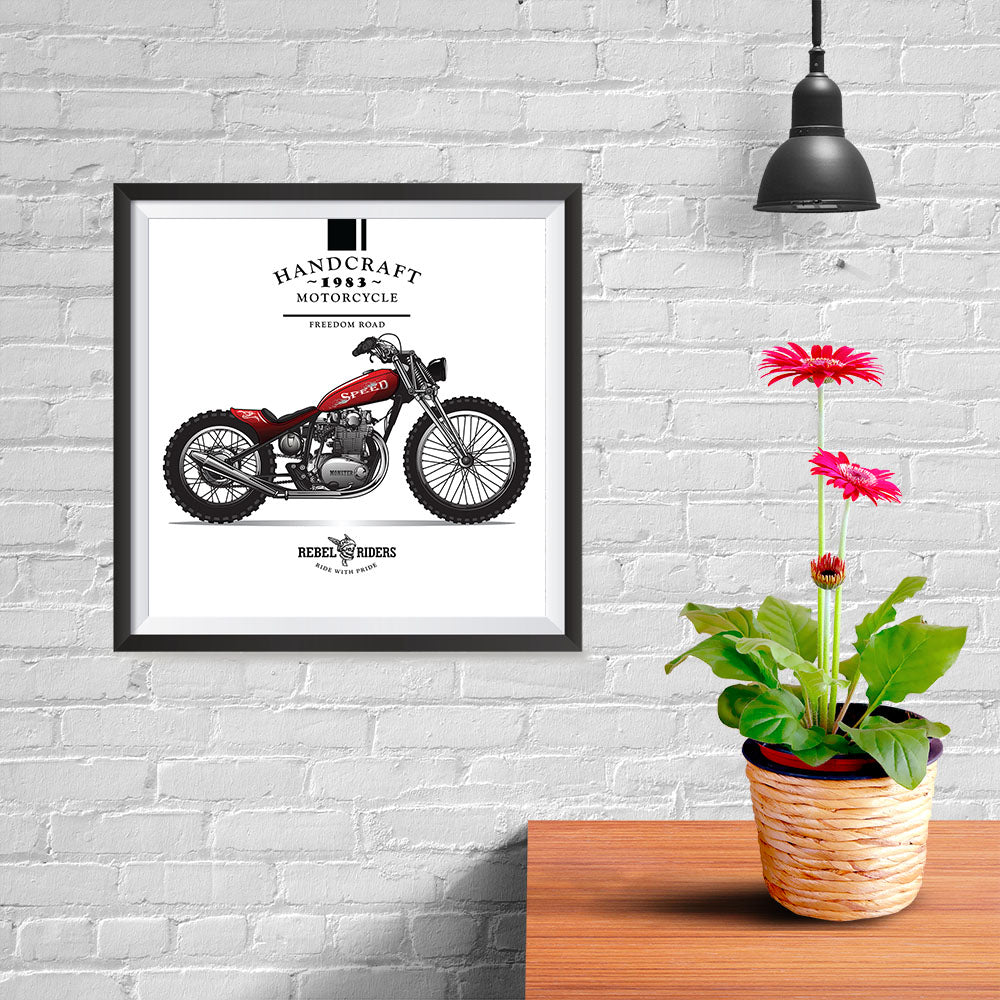 Ezposterprints - Ride With Pride Vintage Chopper - 10x10 ambiance display photo sample