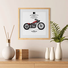 Ezposterprints - Ride With Pride Vintage Chopper - 12x12 ambiance display photo sample