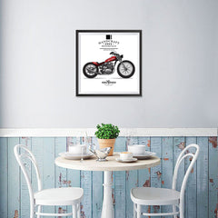 Ezposterprints - Ride With Pride Vintage Chopper - 16x16 ambiance display photo sample