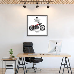 Ezposterprints - Ride With Pride Vintage Chopper - 24x24 ambiance display photo sample