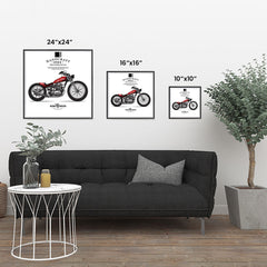 Ezposterprints - Ride With Pride Vintage Chopper ambiance display photo sample