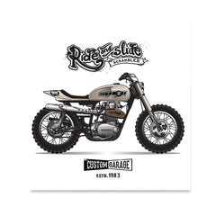 Ezposterprints - The Scrambler Vintage Chopper