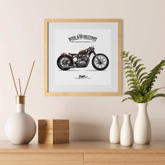 Ezposterprints - Speed Highway Vintage Chopper - 12x12 ambiance display photo sample
