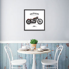 Ezposterprints - Speed Highway Vintage Chopper - 16x16 ambiance display photo sample