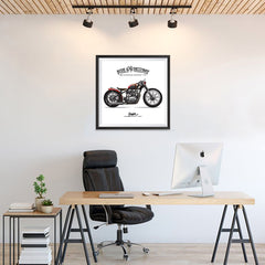 Ezposterprints - Speed Highway Vintage Chopper - 24x24 ambiance display photo sample