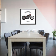 Ezposterprints - Speed Highway Vintage Chopper - 32x32 ambiance display photo sample