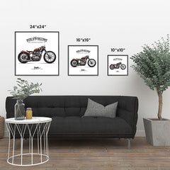 Ezposterprints - Speed Highway Vintage Chopper ambiance display photo sample