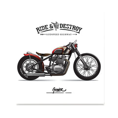 Ezposterprints - Speed Highway Vintage Chopper