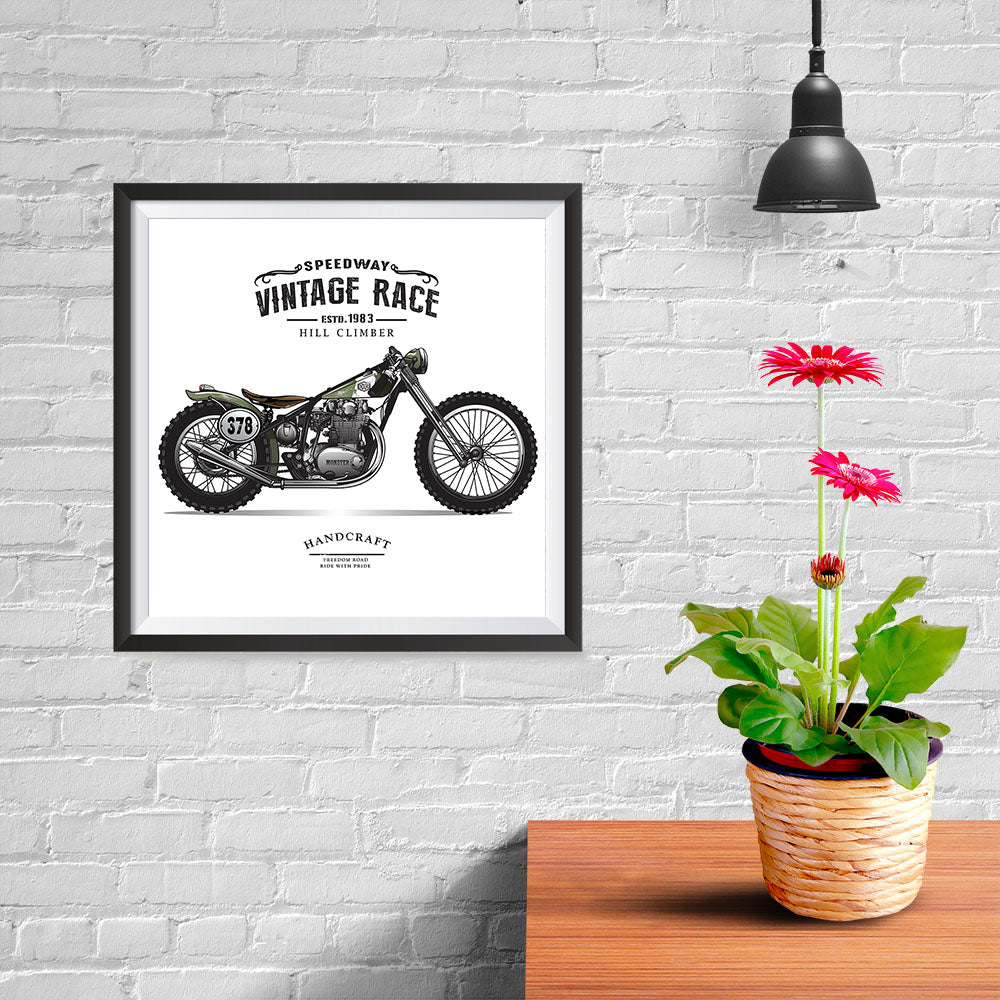 Ezposterprints - The Speed Way Vintage Chopper - 10x10 ambiance display photo sample