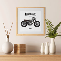 Ezposterprints - Street Custom Vintage Chopper - 12x12 ambiance display photo sample